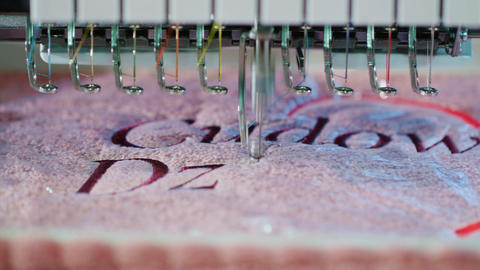 Textile Embroidery Machine in Textile Industry Live Action
