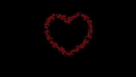 Heart Made Of Stars With Alpha Channel Animation