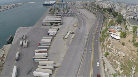 Avenue Beside the Port Footage