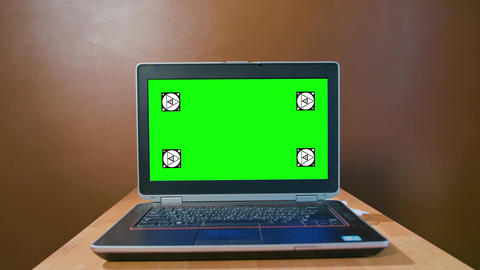 Pan Camera to the Laptop with Green Screen Footage