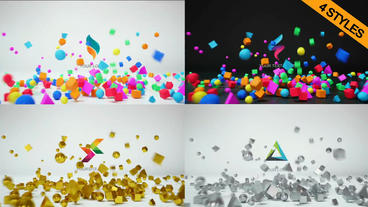 3D Logo Reveal 4 in 1 After Effects Project