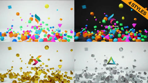 3D Logo Reveal 4 in 1 After Effects Template