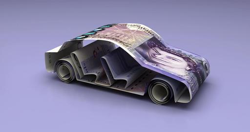 Car Finance with British Pound Animation
