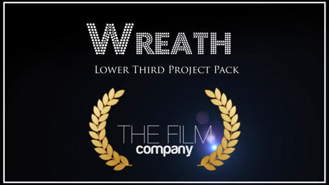 Wreath Lower Third 3 in 1 After Effects Template