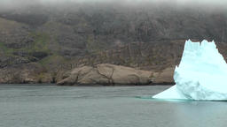 Greenland Prince Christian Sound 109 moving camera close to fantastic icebergs Footage