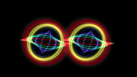 TWIN COLORFUL LED ORBIT CG動画
