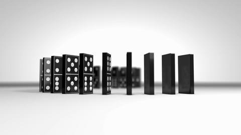 Domino chain falling effect Animation