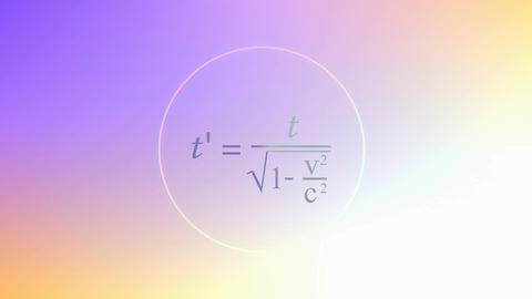 Mathematical equation background, Special relativity equation Animation
