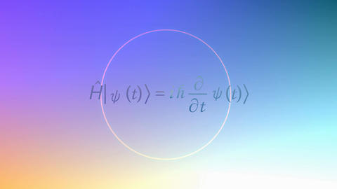 Mathematical equation background, Schrodinger equation Animation