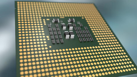 Microprocessor close-up animation Animation