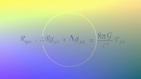 Mathematical equation background, Einstein field equation Animation
