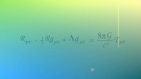 Mathematical equation background, Einstein field equation Stock Video Footage