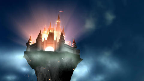 Fantasy magical castle GIF