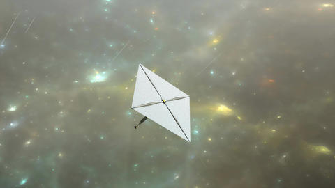 Solar sail, artist concept rendering Animation
