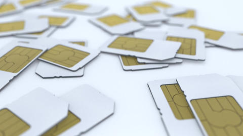 Mobile telecommunication sim card Animation