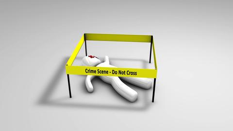 Conceptual animation crime scene Stock Video Footage