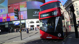 London bus Piccadilly Circus London UK 1 Footage