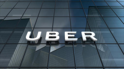Editorial, Uber logo on glass building Animation