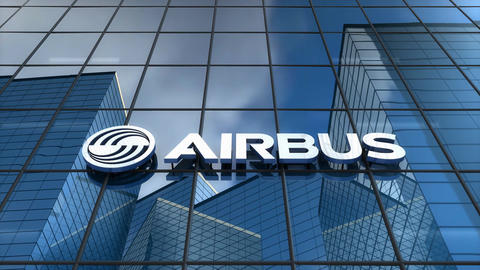 Editorial, Airbus logo on glass building Animation