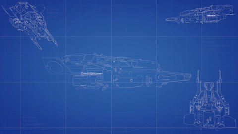 Spaceship blueprint animation Animation