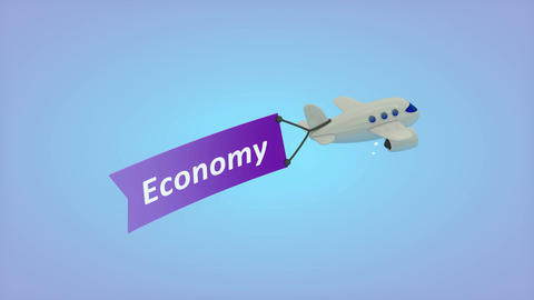 Plane flah Economy Animation