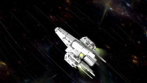 Art concept sci-fi space cruiser Animation
