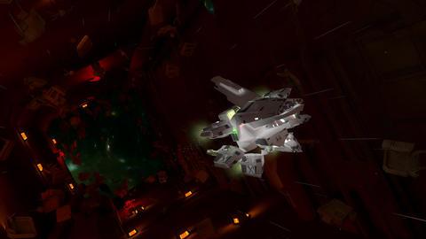 Art concept sci-fi space cruiser Animation