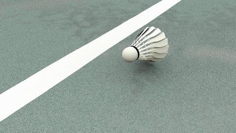 Sport equipment, badminton shuttlecock Animation