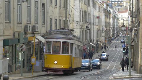 Video of tram in 4K Filmmaterial