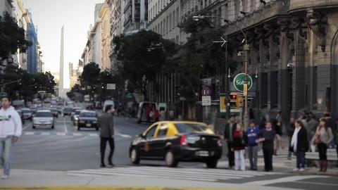 Pedestrians In Buenos Aires Footage