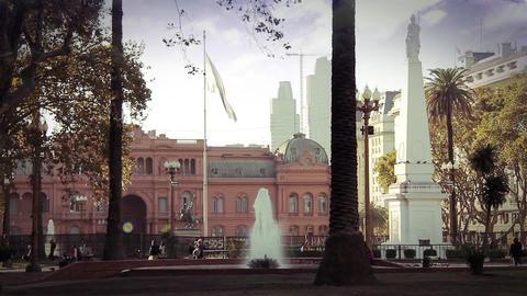 Plaza De Mayo In Buenos Aires Footage