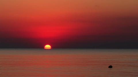 The Sunrise The Sea Of Azov In The Summer Footage