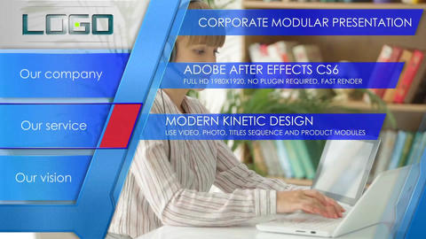 Corporate modern presentation After Effects Template