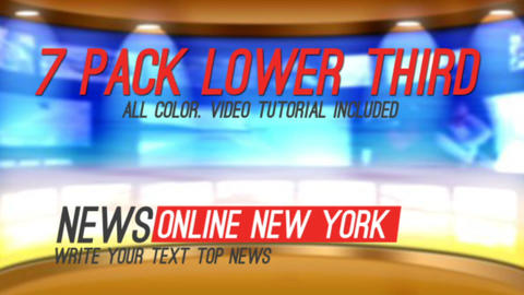 News Titles Lower Thirds (7 in 1) After Effects Template