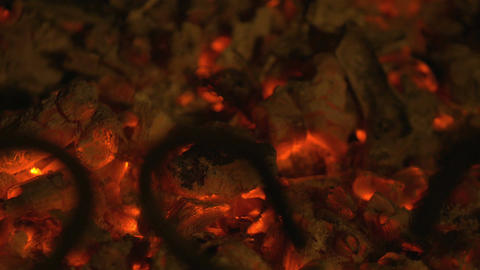 Video of embers in 4K Footage