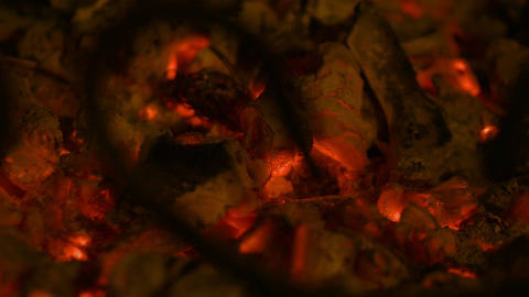 Loopable video of embers in 4K Footage