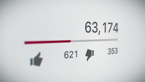 Close-up of a Video Counter Increasing to 1 Billion Views. 3d Animation. Perspec Animation