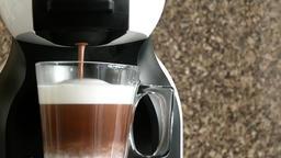 Closeup of coffee machine Filmmaterial
