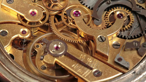 Pocket Watch Movement Chronometer 2 Footage