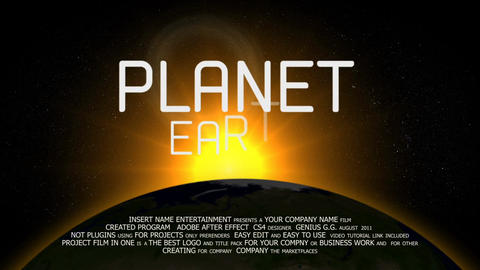 Planet Earth Logo After Effects Template