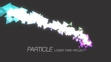 Particle Lower Third After Effectsテンプレート
