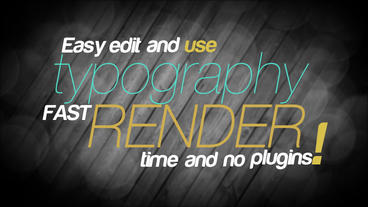 New Typography 2017 After Effects Templates