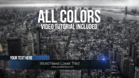 News lower third 14 After Effects Template