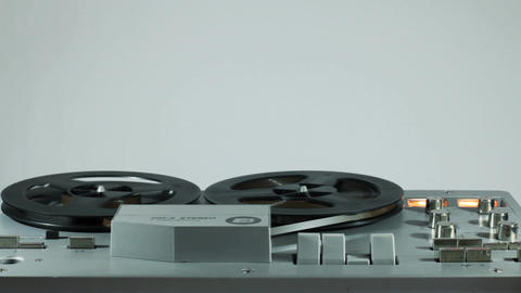 Playback And Rewind Reel To Reel Tape 12 Live Action