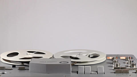 Playback And Rewind Reel To Reel Tape 16 Live Action