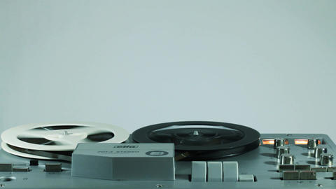 Playback And Rewind Reel To Reel Tape 14 Live Action
