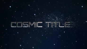 Cosmic Trailer Titles After Effects Template