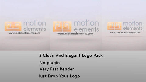 3 Elegant Logo pack After Effectsテンプレート