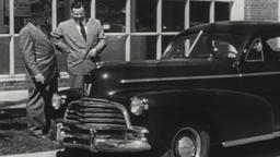 USA 1940s: Test Drive a New Chevrolet Automobile Today! Footage