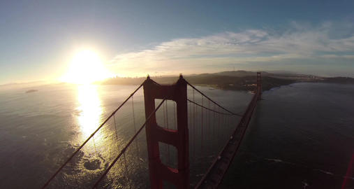 Golden Gate Bridge. Aerial shot of the Golden Gate Bridge in San Francisco on a
